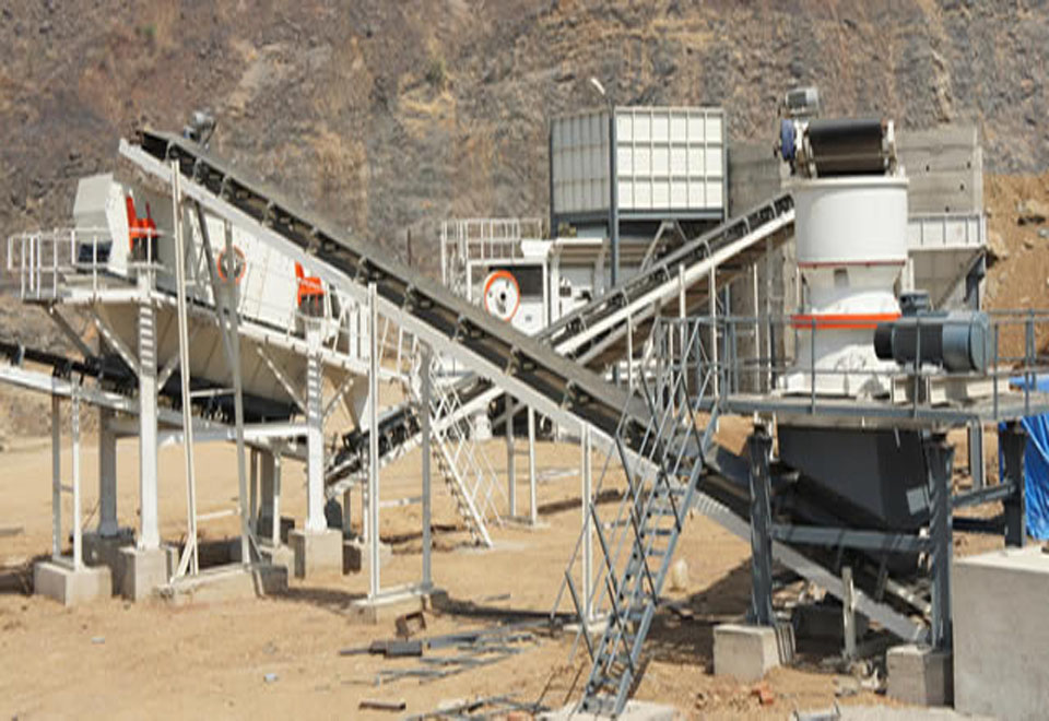 Crushing and screening plant